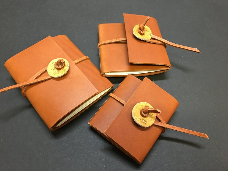 Binding a soft leather journal (11yrs +) block mentored by Rachel Ward-Sale